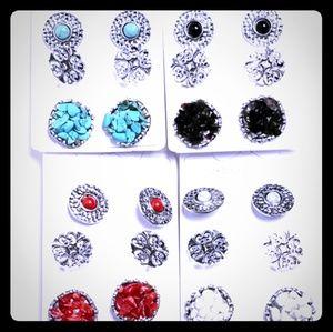 Gemstone/Druzy Earring Sets